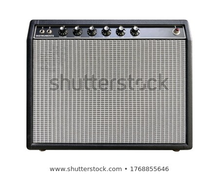 Guitar player in front of amplifier Stock photo © Kzenon