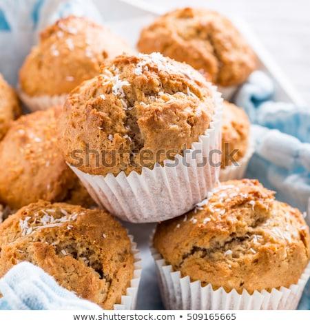 házi · készítésű · kókusz · fahéj · muffinok · finom · muffin - stock fotó © melnyk
