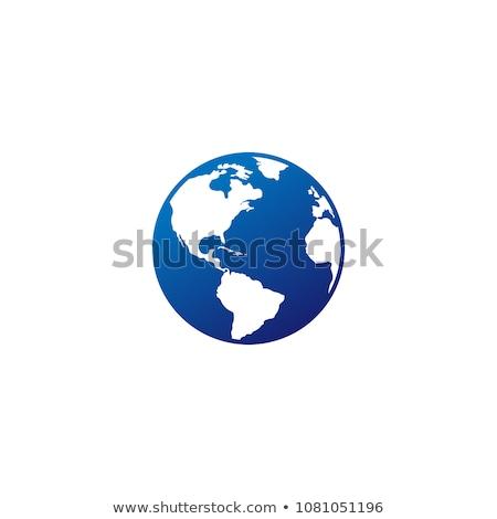 Africa icona vettore semplice simbolo blu Foto d'archivio © kyryloff