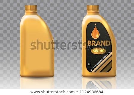 motorolie · fles · geïsoleerd · witte · industrie · vloeibare - stockfoto © luissantos84