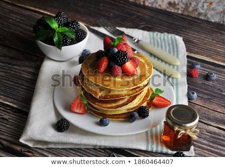 Сток-фото: блин · Ягоды · продовольствие · фрукты · торт · завтрак