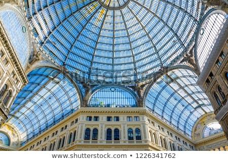 glas · koepel · interieur · galerij · milaan · Italië - stockfoto © digoarpi