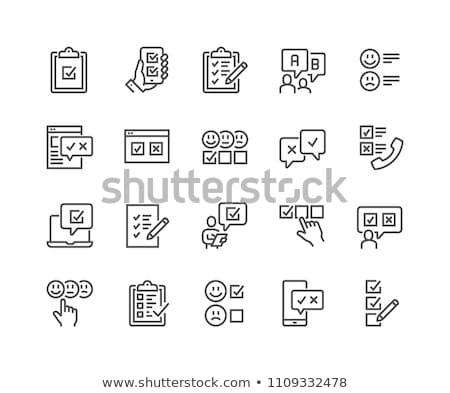 Stock fotó: Customer Choice Line Icon