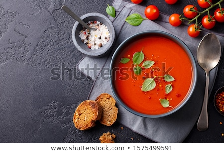 Tomato and basil Stock photo © YuliyaGontar