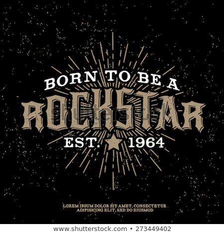 Estrela do rock cartaz tshirt vetor imprimir cartão Foto stock © Andrei_