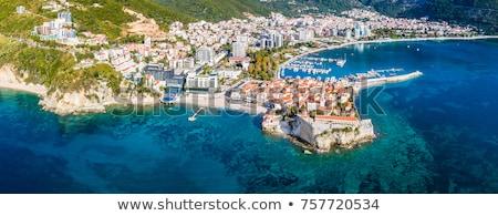 view at sea bay and town of budva in montenegro stock photo © bezikus