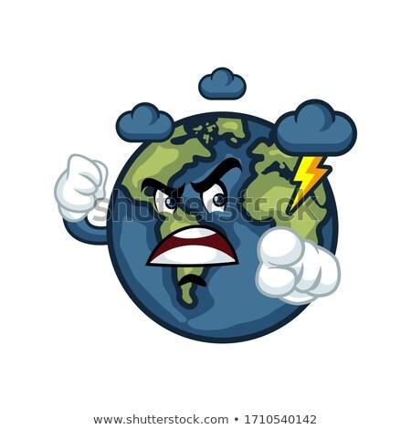 boos · cartoon · illustratie · planeet · naar · grafische - stockfoto © cthoman