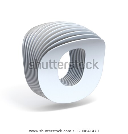 Curved paper sheets Letter O 3D Stock photo © djmilic