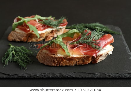 Goat cheese toast Stock photo © YuliyaGontar
