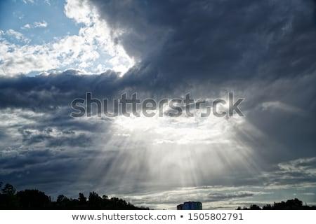 Sunshine Storm солнечный свет пейзаж Сток-фото © lovleah