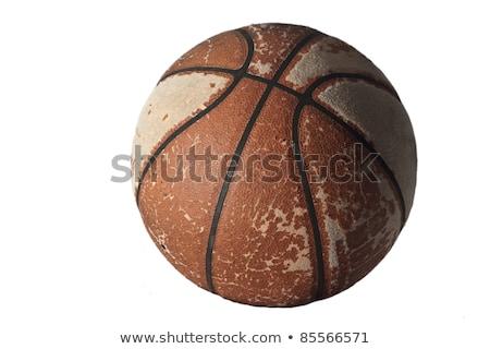 Old basketball ball stock photo © Cipariss