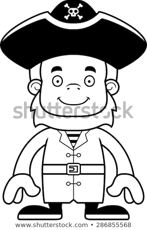 Cartoon souriant pirate chapeau animaux graphique Photo stock © cthoman