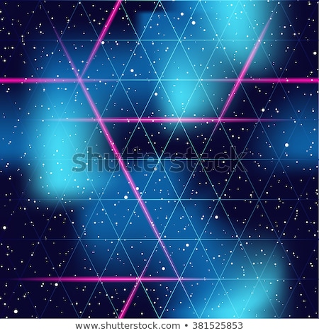cyberpunk background, pink neon triangles, 80s style Stock photo © studiostoks