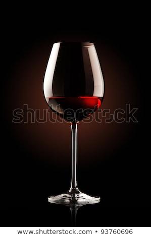 Wine glass on the black background Stock photo © Novic