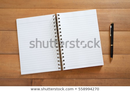 Open notebook with letters on it Stock photo © ra2studio