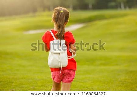若い女の子 戻る パック リュックサック 準備 頭 ストックフォト © JamiRae