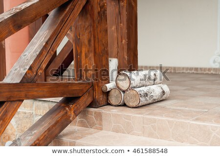 logs three are on the verge of a private home Stock photo © ruslanshramko