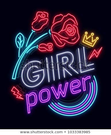 Feminismo menina poder promoção moda Foto stock © Anna_leni