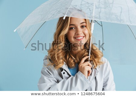 Imagem loiro alegre mulher 20s Foto stock © deandrobot