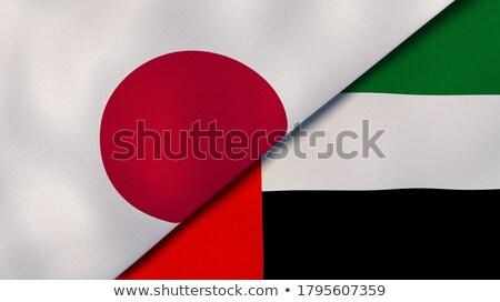 Dois bandeiras Japão Emirados Árabes Unidos isolado Foto stock © MikhailMishchenko