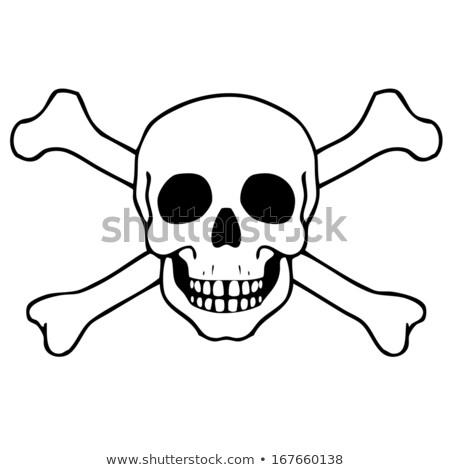 radioactieve · nucleaire · symbool · dood · vlag · geïsoleerd - stockfoto © daboost