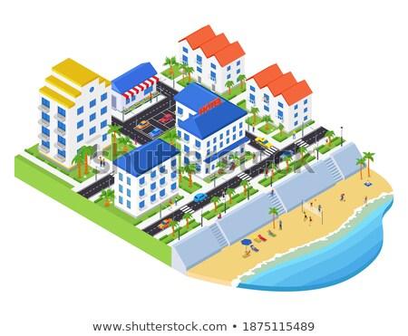 Playa voleibol moderna colorido blanco Foto stock © Decorwithme