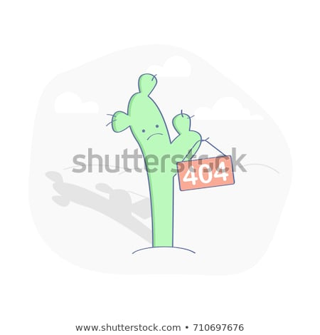 404 Error Page or File not Found icon. Cute green Cactus. UX UI vector for web Stock photo © Natali_Brill