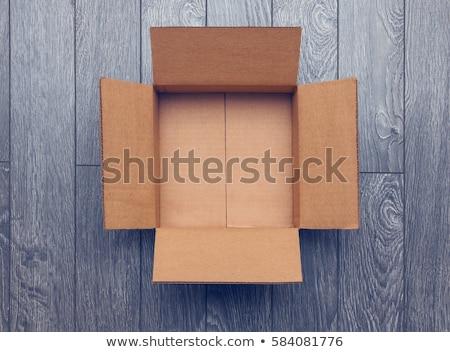 cartone · scatole · blu · industriali · rendering · 3d - foto d'archivio © make