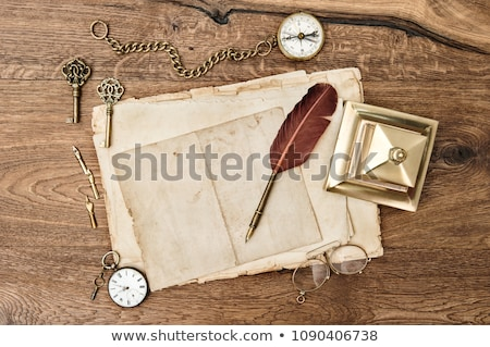 antique mail and clock Stock photo © neirfy