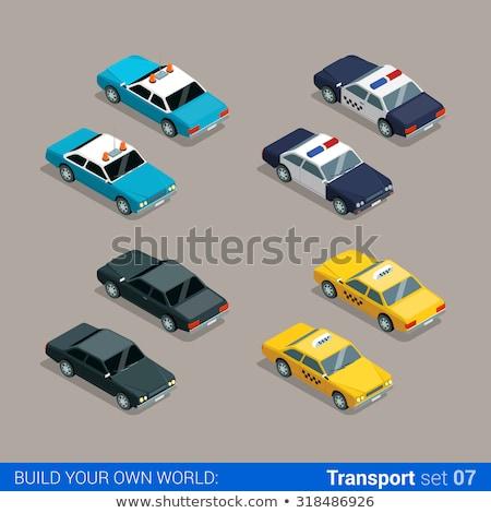 Isometrische sheriff auto hoog kwaliteit vector Stockfoto © tashatuvango