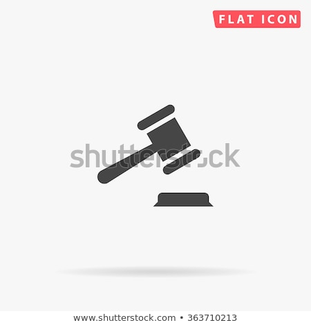 Judge icon Stock photo © angelp