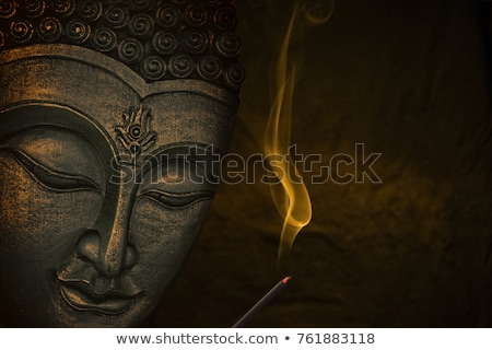 Buda cara ouro Tailândia Ásia edifício Foto stock © galitskaya