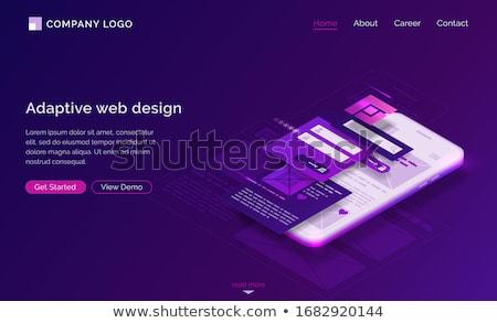 virális · tartalom · leszállás · oldal · digitális · marketing - stock fotó © rastudio