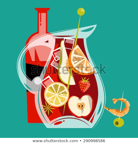Stock photo: Homemade lemonade or sangria