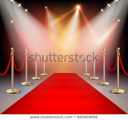 red carpet with pedestal stock photo © elenashow