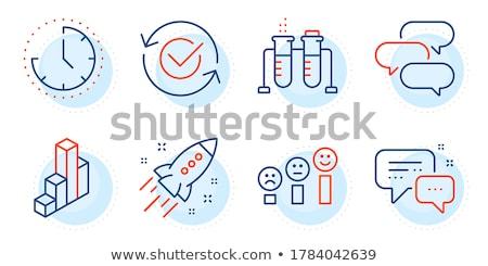 chemical flask circle icon stock photo © anna_leni