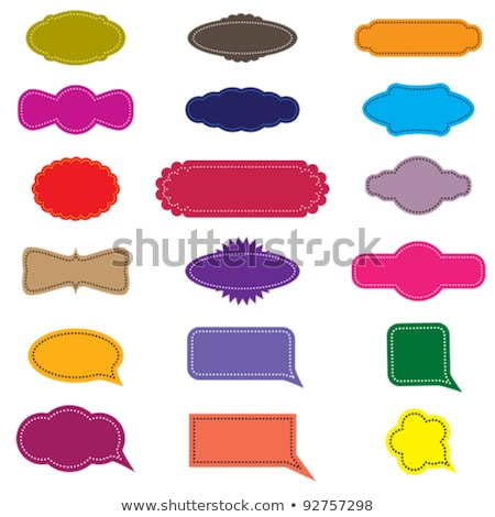 Stock photo: Collection of colorful speech bubbles. EPS 8