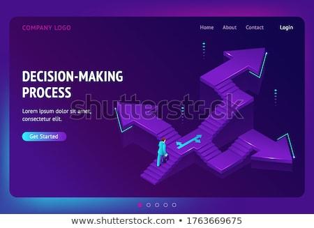 La toma de decisiones aterrizaje página carrera oportunidad vida Foto stock © RAStudio