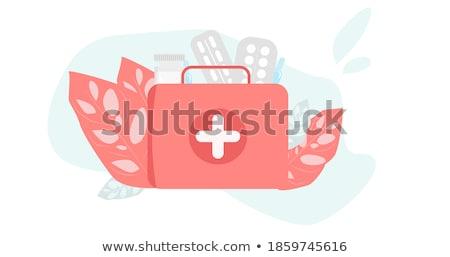 sida · aterrissagem · página · médico · clipboard · dados - foto stock © rastudio