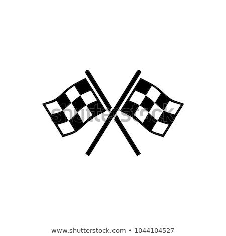 Race vlag icon ontwerp eenvoudige illustratie Stockfoto © Ggs