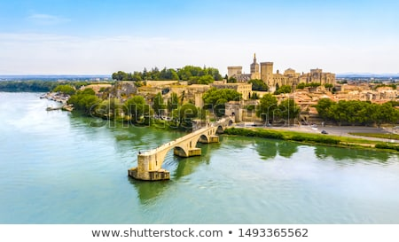 Palais des Papes in Avignon, France Stock photo © boggy
