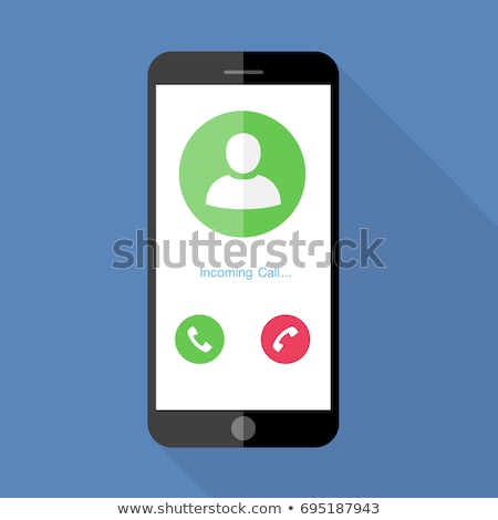 Smartphone with Screen Showing Incoming Call Vector Stock photo © robuart