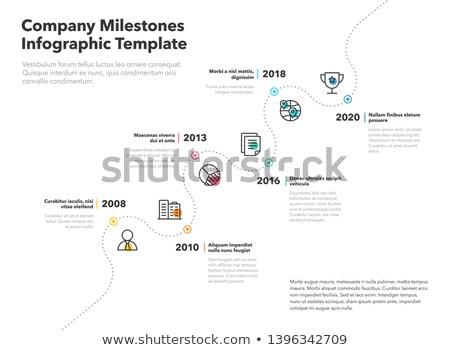 Vettore timeline design società storia infografica Foto d'archivio © blumer1979
