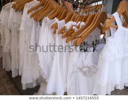 Ibiza Eivissa typical white dresses Balearics Stock photo © lunamarina