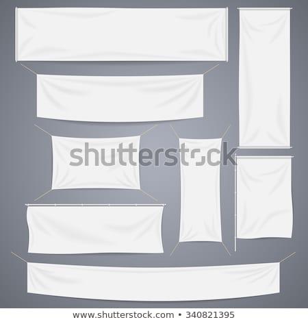 Płótnie banery zestaw wiszący tekstury Zdjęcia stock © cidepix