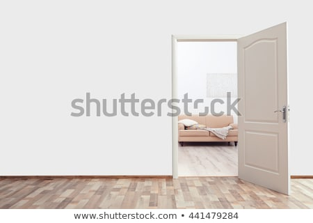 オープンドア ベッド ホーム プライバシー セキュリティ ホテル ストックフォト © dolgachov