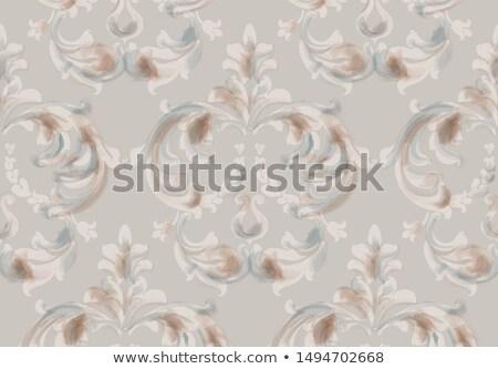 árabe barroco ornamento padrão vetor aquarela Foto stock © frimufilms