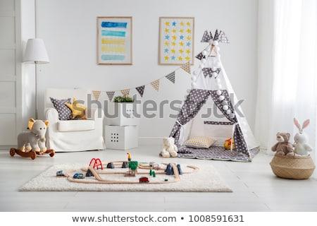 bebé · tarjeta · texto · oficina · papel · sonrisa - foto stock © lopolo
