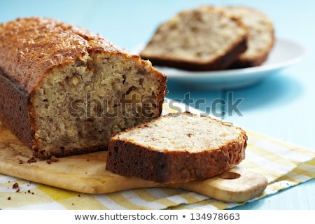 Walnoot brood brood houten boord vers Stockfoto © grafvision