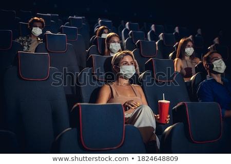 Stock fotó: Mozi · auditórium · pattogatott · kukorica · ital · papír · csésze